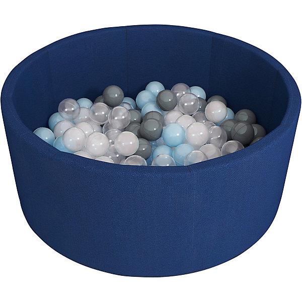Сухой бассейн Romana Airpool, темно-синий + 150 шариковСухие бассейны<br>Характеристики:<br><br>• тип товара: сухой бассейн<br>• материал: трикотаж, поролон, пластик<br>• толщина дна: 2 см<br>• толщина борта: 4 см<br>• высота: 33 см<br>• количество шариков: 150 шт<br>• диаметр шариков: 7 см<br>• размеры: 80х80 см <br>• страна бренда: Россия<br> <br>Сухой бассейн с шариками безопасный для детских игр. Он легко и быстро чистится. Можно использовать как сухой бассейн, так и в качестве игровой зоны. Сделан строгий дизайн.