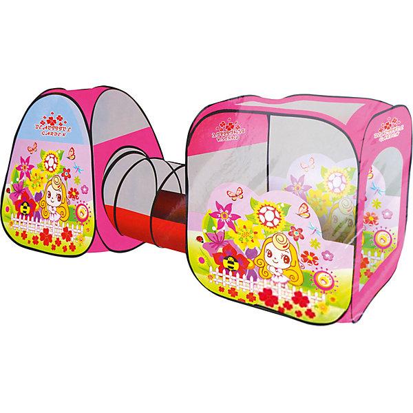 Палатка c туннелем Наша Игрушка Цветочный рай, 270х92х92 см 11096063