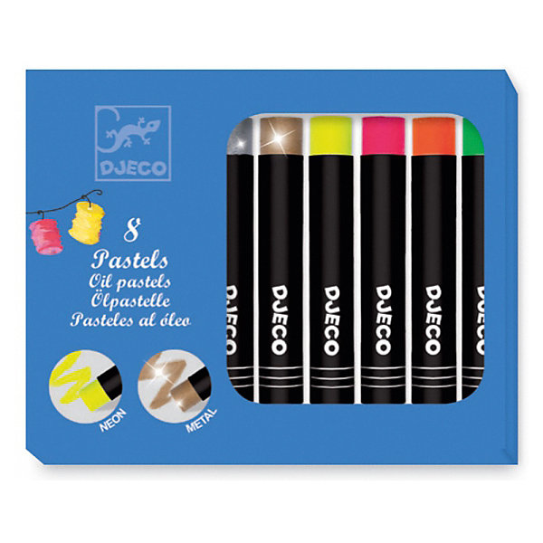 DJECO Набор пастельных карандашей DJECO, 8 ярких цветов carioca набор смываемых восковых карандашей baby 8 цветов