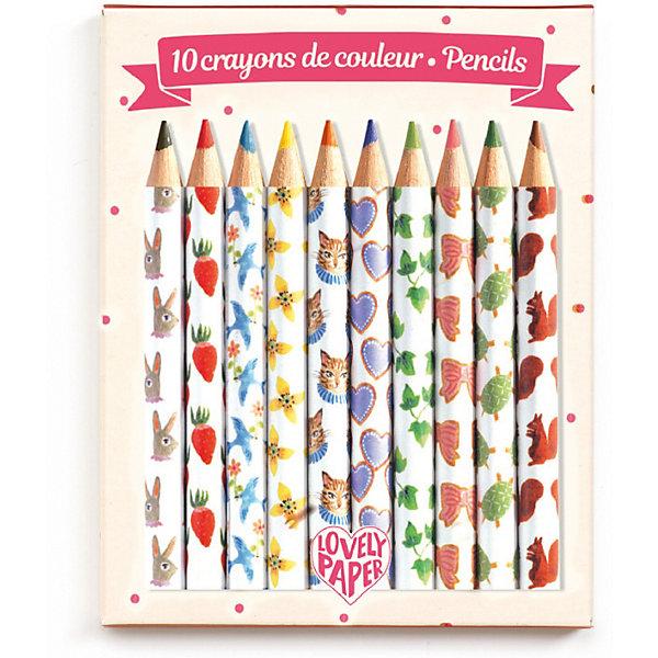 DJECO Набор карандашей DJECO, 10 штук djeco набор карандашей djeco lovely paper металлик 10 шт