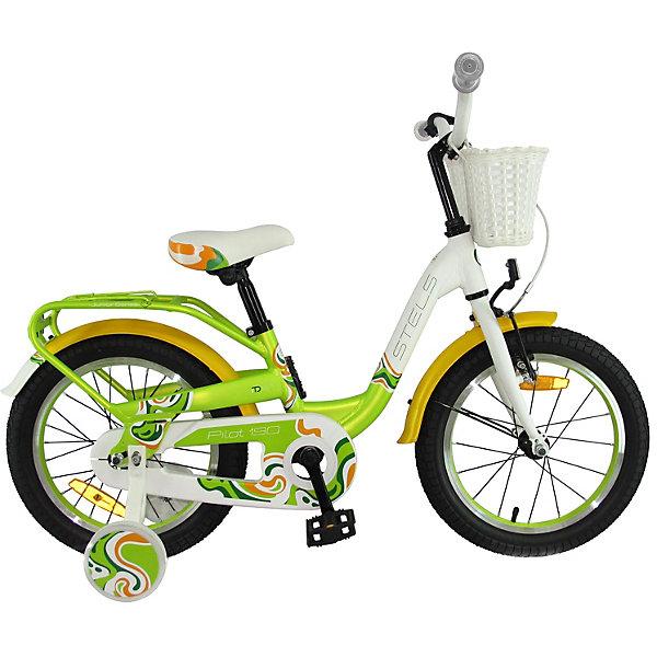 Stels Двухколесный велосипед Pilot-190 16 дюймов, зеленый/