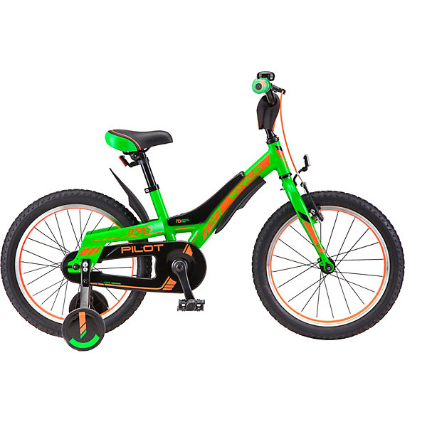 Stels Двухколесный велосипед Pilot-180 18 дюймов, зеленый/