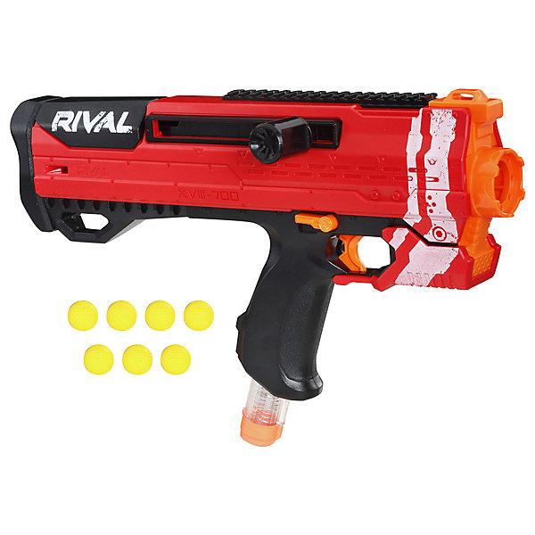 Фото - Hasbro Бластер с шариками Nerf Rival Helios XVIII-700, красный игрушечное оружие nerf rival бластер с шариками гелиос e3108121