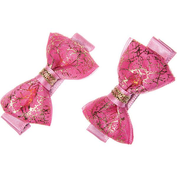 Купить Набор зажимов BABYSJOY Заколка для волос, парная. Основа зажима металл. Украшена бантиком, изготовленным их атлас, Babys Joy, Россия, розовый, one size, Женский