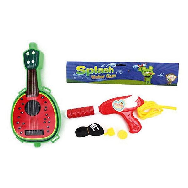 Наша Игрушка Водяной бластер с рюкзаком игрушка Гитара
