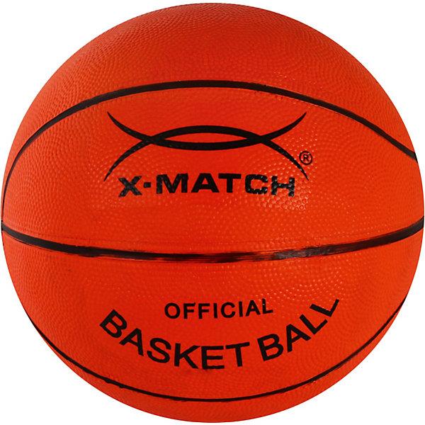Мяч баскетбольный X-MatchСпортивные мячи<br>Характеристики товара:<br><br>• материал покрышки: резина<br>• материал камеры: резина<br>• размер: 5<br>• количество панелей: 8<br><br>Мяч подойдет для игры на свежем воздухе или в зале. Игра в баскетбол развивает ловкость, скорость реакции, координацию движений. Перед использованием мяч необходимо надуть.