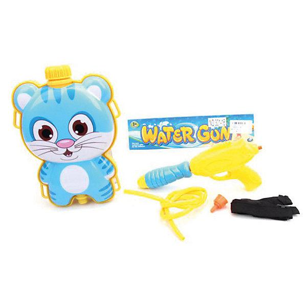 Наша Игрушка Водяной бластер с рюкзаком игрушка Котик