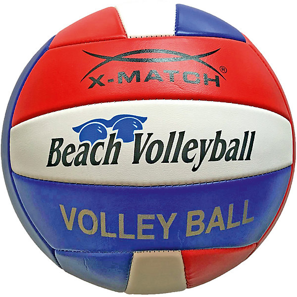 Мяч волейбольный X-Match, 22 смСпортивные мячи<br>Характеристики товара:<br><br>• материал покрышки: ПВХ 1,5 мм<br>• материал камеры: резина<br>• размер: 5<br>• диаметр: 22 см<br>• количество панелей: 12<br>• количество слоев: 2<br><br>Мяч подойдет для игры на свежем воздухе или в зале. Игра в волейбол способствует физическому развитию, развивает ловкость, скорость реакции, координацию движений. Перед использованием мяч необходимо надуть.