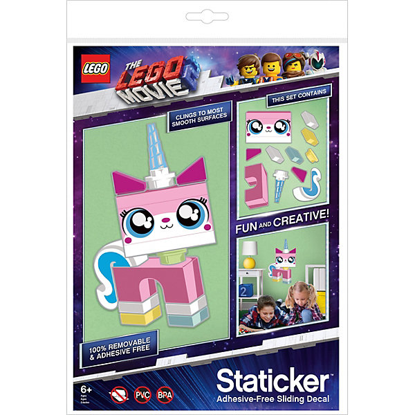 LEGO Набор наклеек LEGO «Статикер» Movie 2 Unikitty