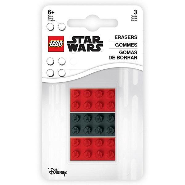 Набор ластиков LEGO Star Wars, 3 шт, Черный/розовый