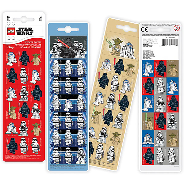 Набор стикеров LEGO Star Wars, 4 шт, Разноцветный