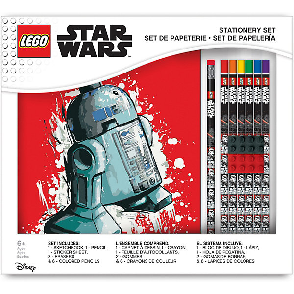LEGO Канцелярский набор для рисования LEGO Star Wars, 11 шт принадлежности для рисования спейс набор кистей 10 шт