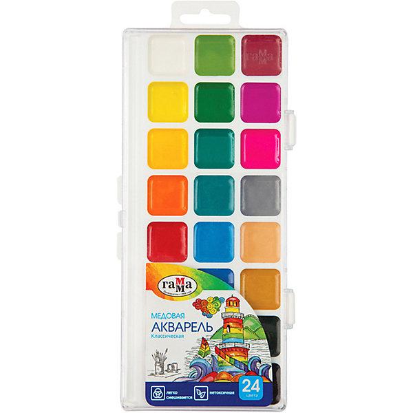 ГАММА Акварель Гамма «Классическая», медовая, полусухая, 24 цвета