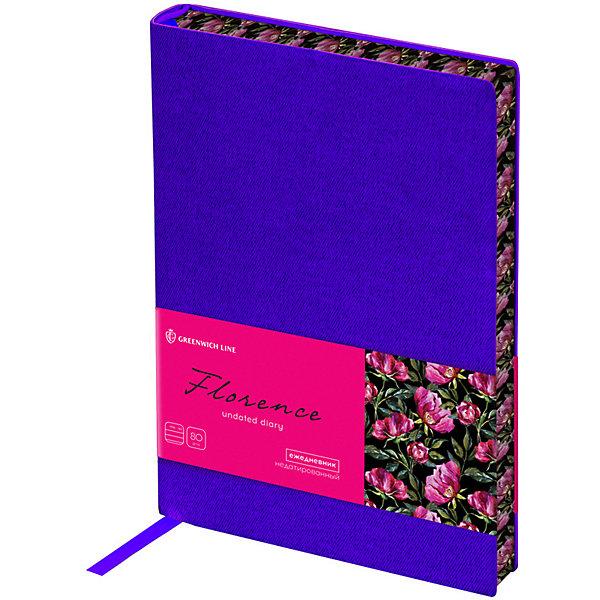 Ежедневник недатированный Greenwich Line Florence, В6, фиолетовый