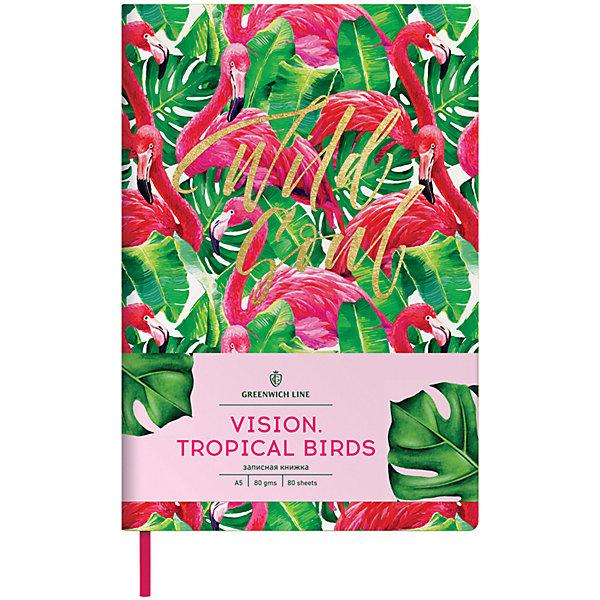 Купить Записная книжка Лайт Greenwich Line Vision.Tropicalbirds, А5, Унисекс