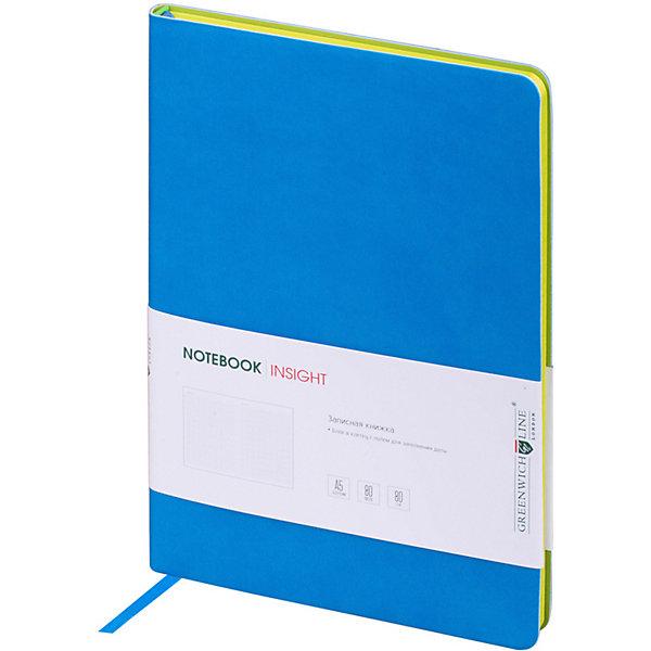 Купить Записная книжка Лайт Insight, А5, синий, Greenwich Line, Унисекс