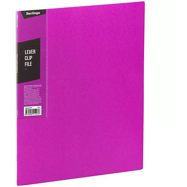 Berlingo Папка с зажимом Color Zone, розовая