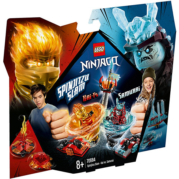 Купить Конструктор LEGO Ninjago 70684: Бой мастеров кружитцу — Кай против Самурая, Мужской