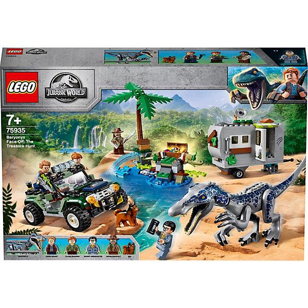 Купить Конструктор LEGO Jurassic World 75935: Поединок с бариониксом: охота за сокровищами, Мужской