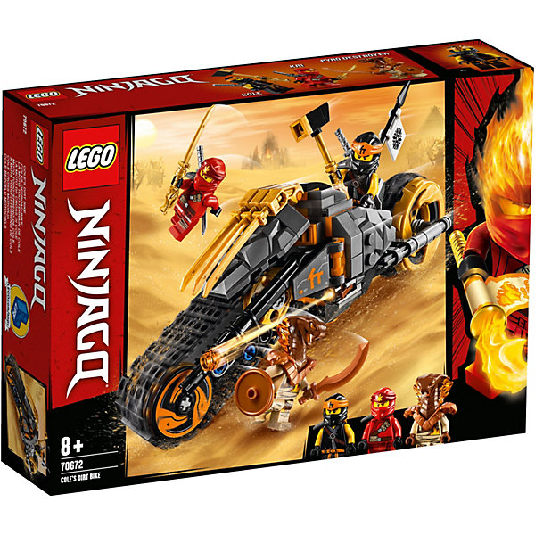 LEGO Конструктор Ninjago 70672: Раллийный мотоцикл Коула