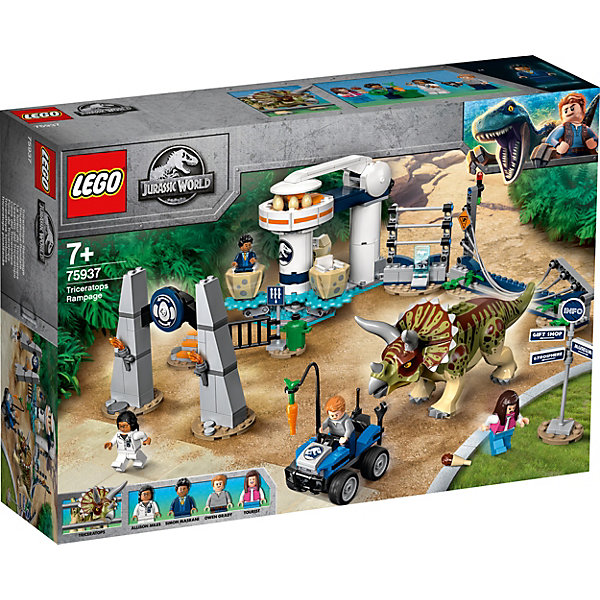Купить Конструктор LEGO Jurassic World 75937: Нападение трицератопса, Мужской