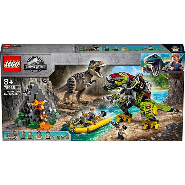 LEGO Конструктор LEGO Jurassic World 75938: Бой тираннозавра и робота-динозавра