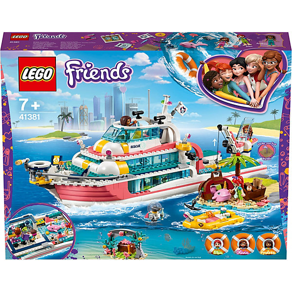 LEGO Конструктор LEGO Friends Катер для спасательных операций, арт 41381_1 конструктор lego friends катер для спасательных операций 908 дет 41381