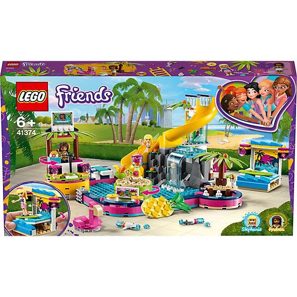 Купить Конструктор LEGO Friends 41374: Вечеринка Андреа у бассейна, Женский