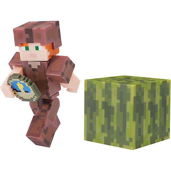 Jazwares Игровая фигурка Jazwares Minecraft Alex in Leather Armor, 8 см набор фигурок minecraft alex survival pack – series 3