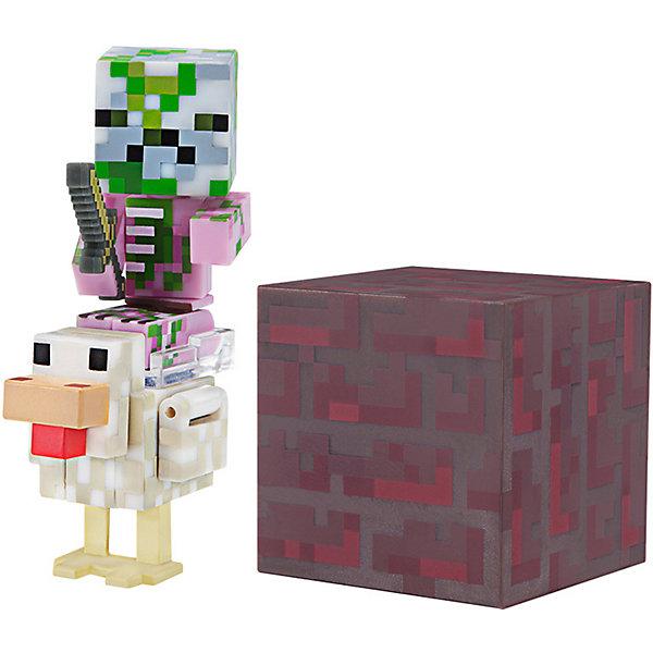 цена на Jazwares Набор фигурок Jazwares Minecraft Baby Zombie Pigman Jockey, 8 см