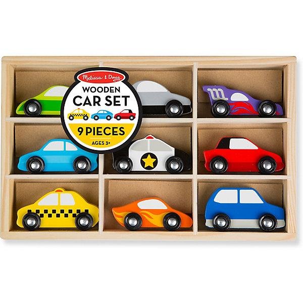 Melissa & Doug Набор автомобилей Деревянные игрушки