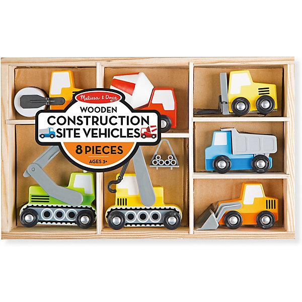 Melissa & Doug Набор строительных машин Деревянные игрушки