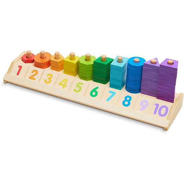 Melissa & Doug Счеты Деревянные игрушки, Разложи по цветам