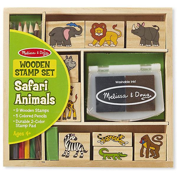 Melissa & Doug Набор печатей Melissa & Doug Творчество, Животные Африки набор печатей melissa
