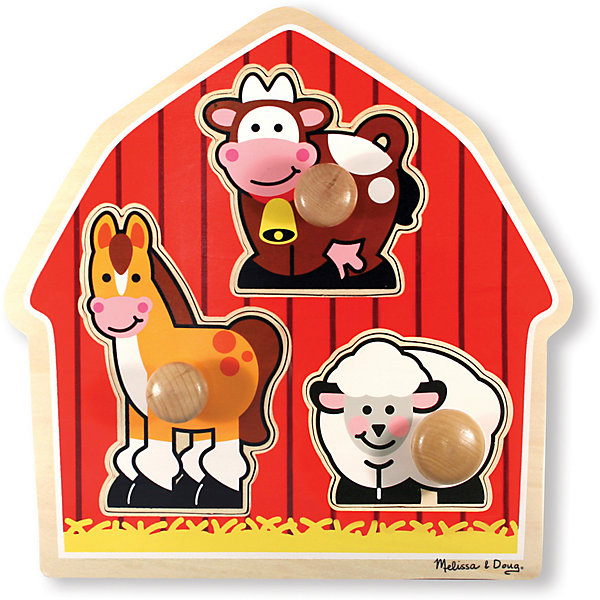 Melissa & Doug Рамка-вкладыш Melissa & Doug Мои первые пазлы, Животные с фермы пазлы melissa