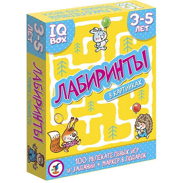 Дрофа-Медиа Карточная игра IQ Box Лабиринты: 3-5 лет