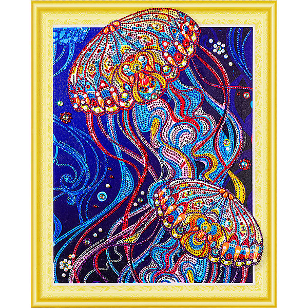 Color KIT Алмазная картина Сокровища океана, с фигурными стразами