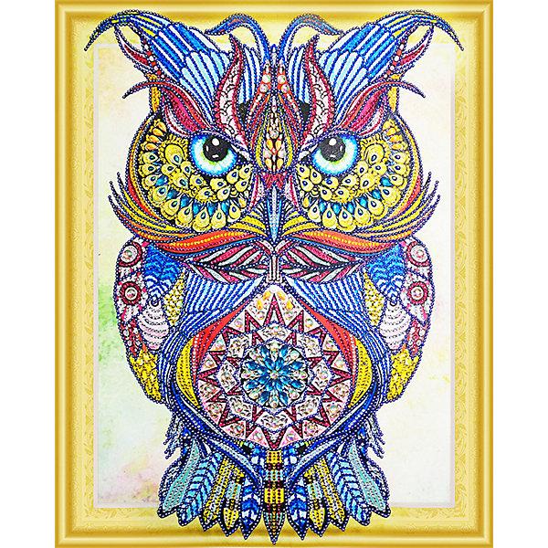 Color KIT Алмазная картина Драгоценная сова, с фигурными стразами