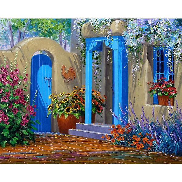 Color KIT Картина по номерам Цветущий дворик