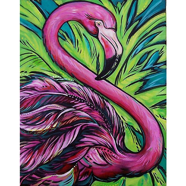 Color KIT Картина по номерам Color KIT Розовый фламинго color kit картина по номерам color kit утренний чай