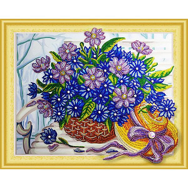 Color KIT Алмазная картина Сапфировый букет, с фигурными стразами