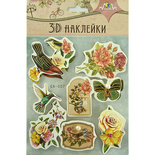 """АппликА 3D-наклейки Апплика """"Цветы"""", 8 шт"""