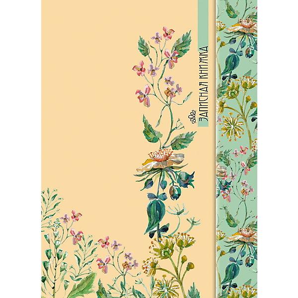 АппликА Записная книжка Апплика Акварельные цветы А6, 100 листов
