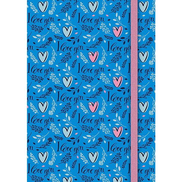 АппликА Ежедневник Апплика Сердечки А5, 80 листов