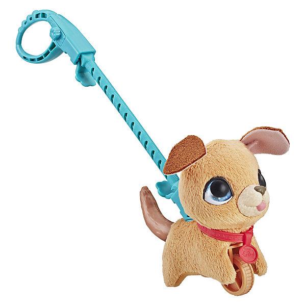 Hasbro Мягкая игрушка FurReal Friends Маленький питомец на поводке Бежевая собака