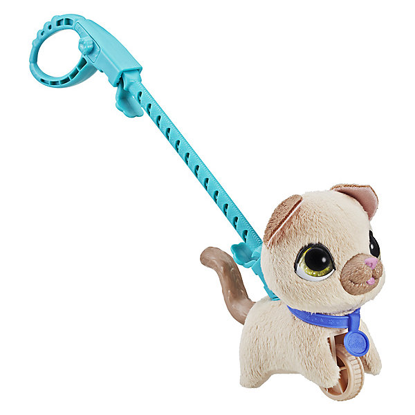 цена на Hasbro Мягкая игрушка FurReal Friends Маленький питомец на поводке Кошка
