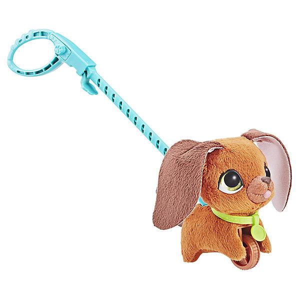 Hasbro Мягкая игрушка FurReal Friends Маленький питомец на поводке Коричневая собака