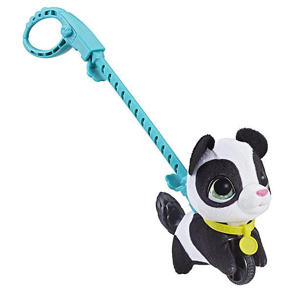 цена на Hasbro Мягкая игрушка FurReal Friends Маленький питомец на поводке Панда