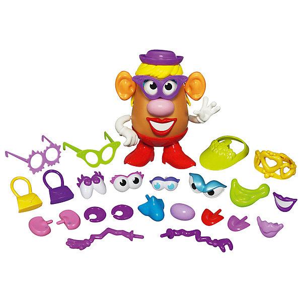 Hasbro Игровой набор Playskool Potato Head Чудной Кейс Миссис Картофельная голова hasbro игровой набор trolls город троллей диджей баг
