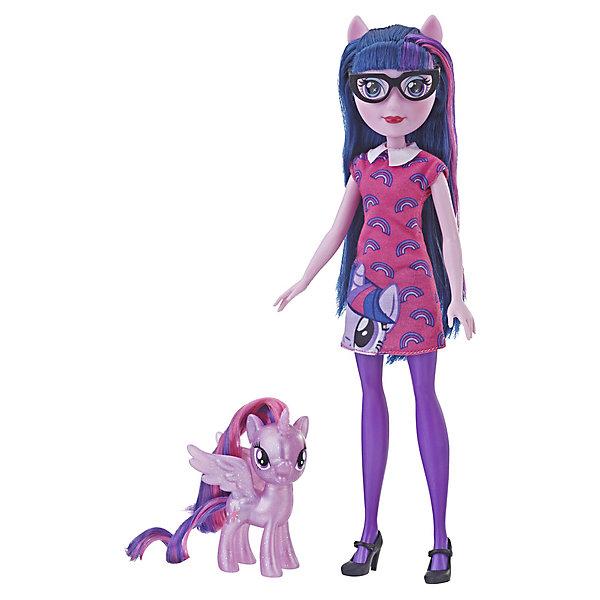Купить Игровой набор Equestria Girls Кукла и пони , Твайлат Спаркл, Hasbro, Китай, Женский